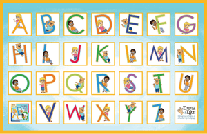 Placemats Set of 3 - ABC's, First Words 1 and 2-Placemat-Emma & Egor-Emma & Egor