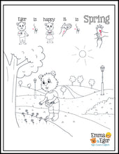 Load image into Gallery viewer, Spring-Print at Home-Coloring Pages-Coloring Book-Emma & Egor-Emma & Egor