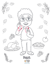 Load image into Gallery viewer, Thanksgiving-Print at Home-Coloring Pages-Coloring Book-Emma & Egor-Emma & Egor