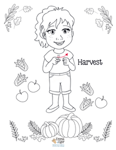 Thanksgiving-Print at Home-Coloring Pages-Coloring Book-Emma & Egor-Emma & Egor