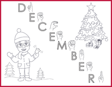 Load image into Gallery viewer, December-Print at Home-Coloring Pages-Coloring Book-Emma & Egor-Emma & Egor