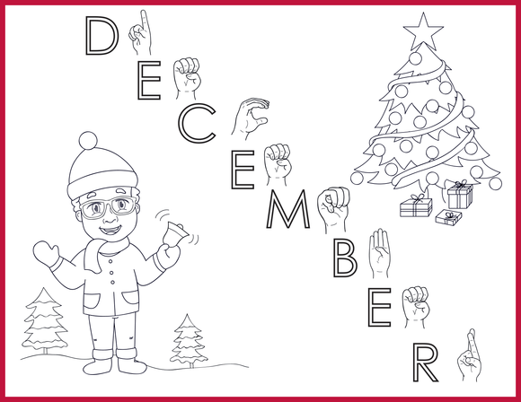 December-Print at Home-Coloring Pages-Coloring Book-Emma & Egor-Emma & Egor