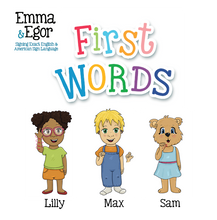 Load image into Gallery viewer, Book-First Words 2-Books-Emma & Egor-Emma & Egor