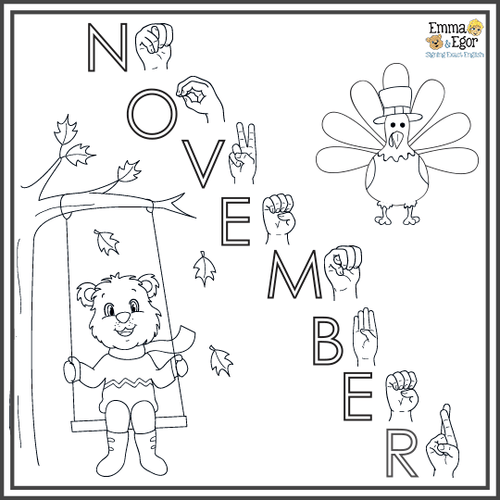 November-Print at Home-Weather-Coloring Pages-Coloring Book-Emma & Egor-Emma & Egor