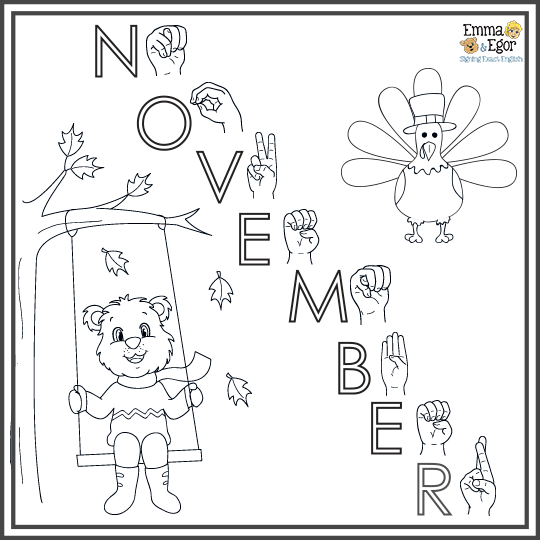 How To Sign Fall Weather Sign Language Coloring Emma And Egor Emma Egor