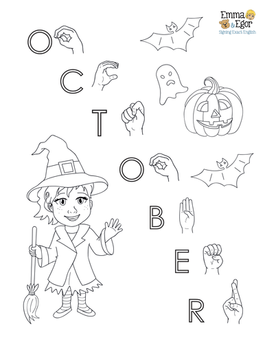 October-Print at Home-Coloring Pages-Coloring Book-Emma & Egor-Emma & Egor