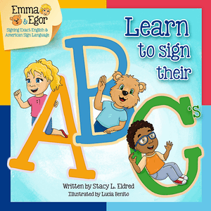 Emma and Egor-Learn to Sign Their ABC's-Book-Books-Emma & Egor-Emma & Egor