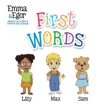 Load image into Gallery viewer, Book-First Words 1-Books-Emma & Egor-Emma & Egor