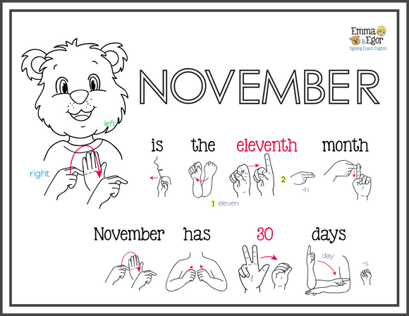 November-Print at Home-Coloring Pages-Coloring Book-Emma & Egor-Emma & Egor