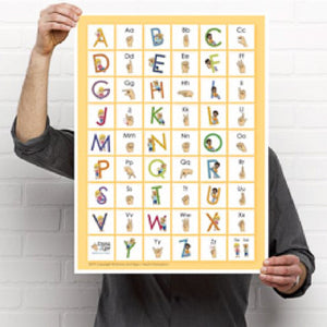 Poster-Learn to Sign ABC's-Print at Home-Poster - Print at Home-Emma & Egor-Emma & Egor