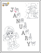 Load image into Gallery viewer, January-Print at Home-Coloring Pages-Coloring Book-Emma & Egor-Emma & Egor