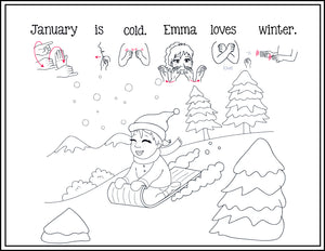 January-Print at Home-Coloring Pages-Coloring Book-Emma & Egor-Emma & Egor