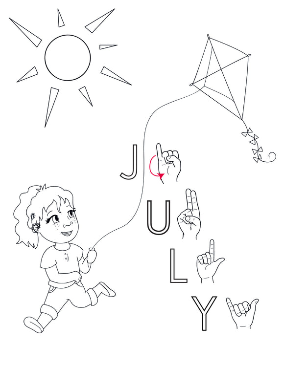 July-Print at Home-Coloring Pages-Coloring Book-Emma & Egor-Emma & Egor