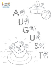 Load image into Gallery viewer, August-Print at Home-Coloring Pages-Coloring Book-Emma & Egor-Emma & Egor