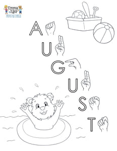 August-Print at Home-Coloring Pages-Coloring Book-Emma & Egor-Emma & Egor