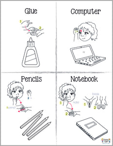 School Supplies-Print at Home-Coloring Pages-Coloring Book-Emma & Egor-Emma & Egor