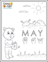 Load image into Gallery viewer, May-Print at Home-Coloring Pages-Coloring Book-Emma & Egor-Emma & Egor