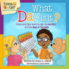 Load image into Gallery viewer, Book and Flashcards-What Day is It?-Book-Flashcards-Emma & Egor-Emma & Egor