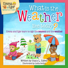Load image into Gallery viewer, Book and Flashcards-What is the Weather like Today?-Book-Flashcards-Emma & Egor-Emma & Egor