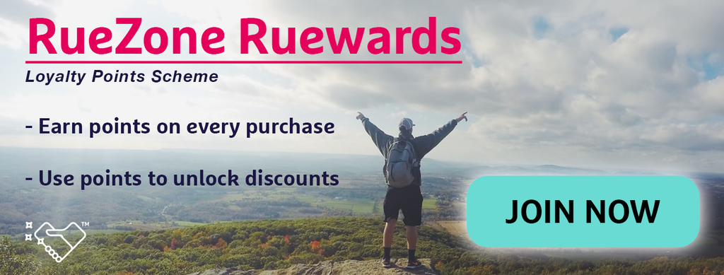ruezone rewards points loyalty scheme discounts sale cheap