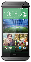 HTC Desire 510 smartphone front screen in dark grey with chrome surround
