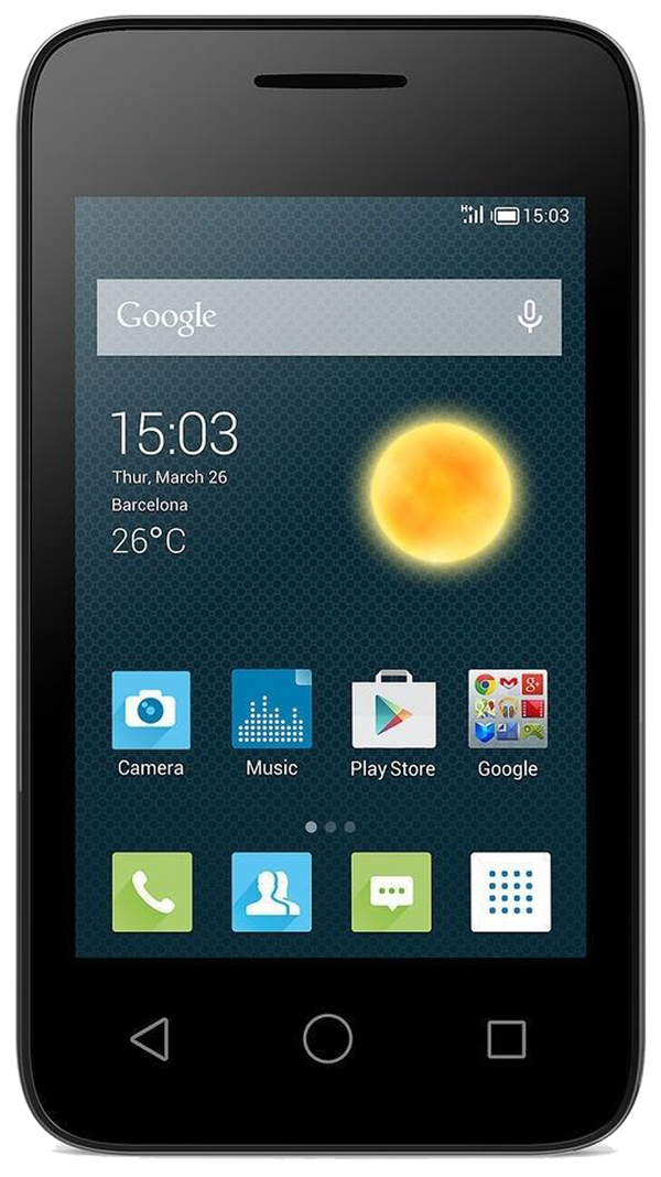 Alcatel Pixi 3 (3.5 OT-4009X) Refurbished and SIM Unlocked, Alcatel, , alcatel-pixi-3-3-5-ot-4009x-network-unlocked, brand_alcatel, cellphone, colour_black, mobiles, re-used electronics zone,