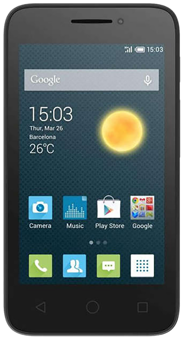 Alcatel Pixi 3 (4) - (OT-4013X) smartphone front screen