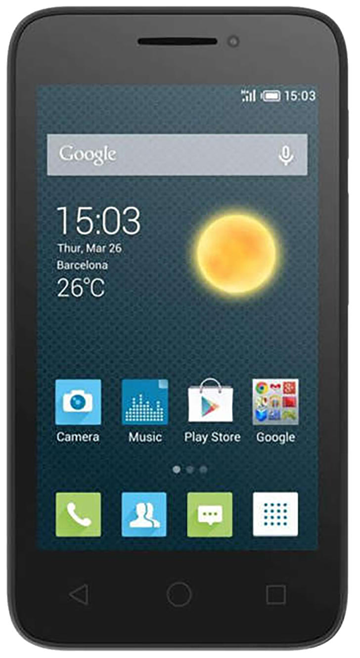 Alcatel Pixi 3 (4 OT-4013X) Refurbished and SIM Unlocked, Alcatel, , alcatel-pixi-3-4-ot-4013x-network-unlocked, brand_alcatel, cellphone, colour_black, mobiles, re-used electronics zone, rec