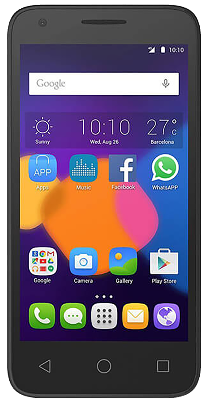 Alcatel Pixi 3 (4.5 4027X) Refurbished and SIM Unlocked, Alcatel, , alcatel-pixi-3-4-5-4027x-network-unlocked, brand_alcatel, cellphone, colour_black, memory_2GB, mobiles, re-used electronics