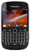 Blackberry 9900 smartphone front screen with keyboard buttons