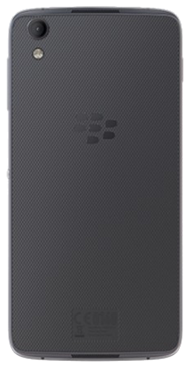 Blackberry DTEK50 smartphone back in dark grey