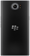 Blackberry Priv smartphone back in black and curved edge