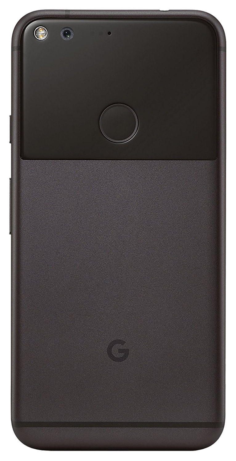 Google Pixel smartphone back in grey and black