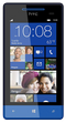 HTC 8S Windows smartphone front screen with bright blue surround