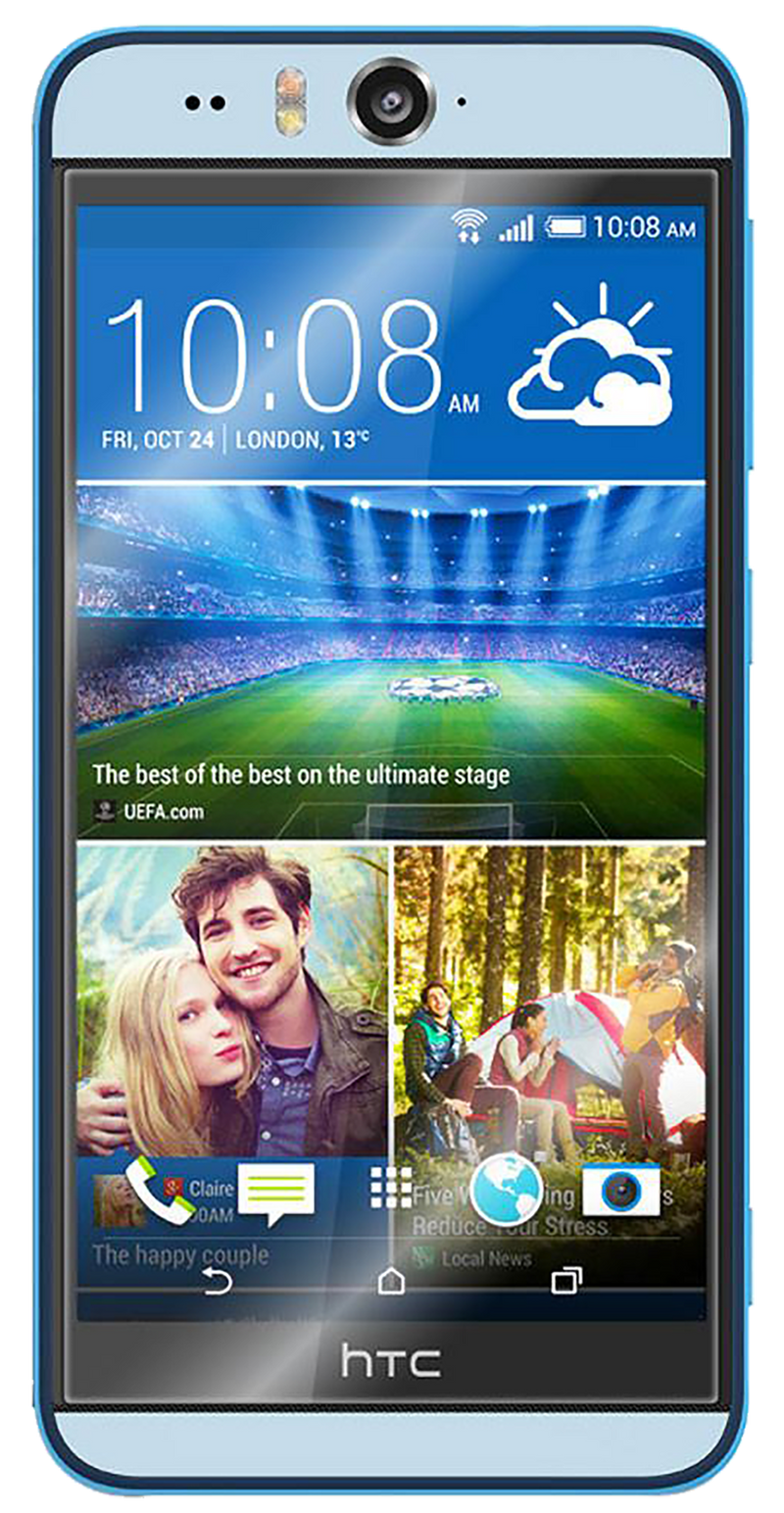 HTC Desire Eye smartphone light blue surround