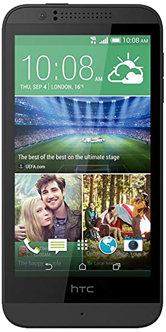 HTC Desire 510 smartphone front screen in black