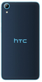 HTC Desire 628 smartphone back in dark blue with light blue edge