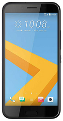 HTC 10 smartphone front screen in black surround