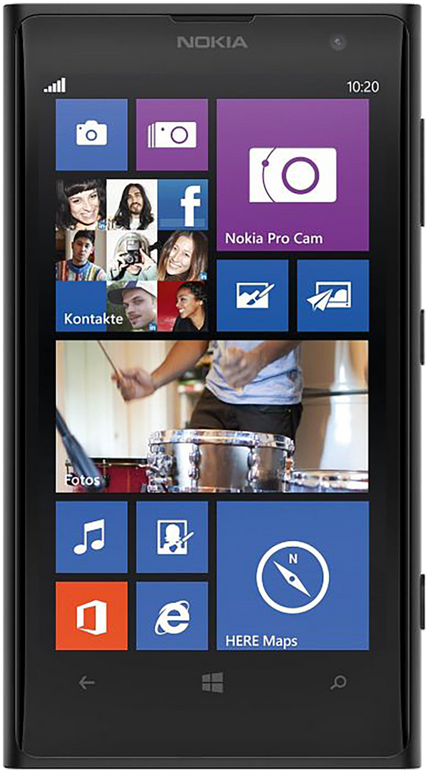 Microsoft Lumina 1020 phone front screen