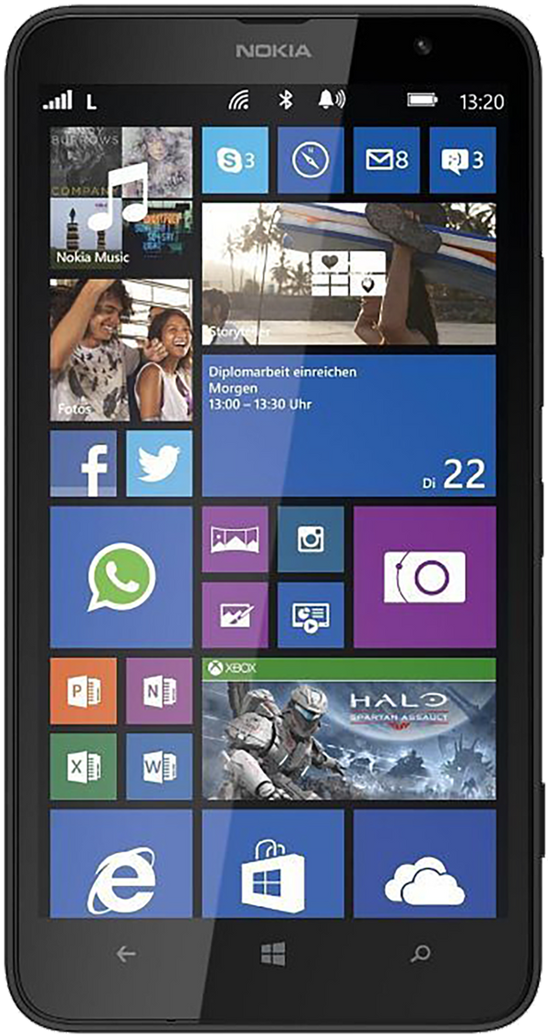 Microsoft Lumina 1320 phone front screen