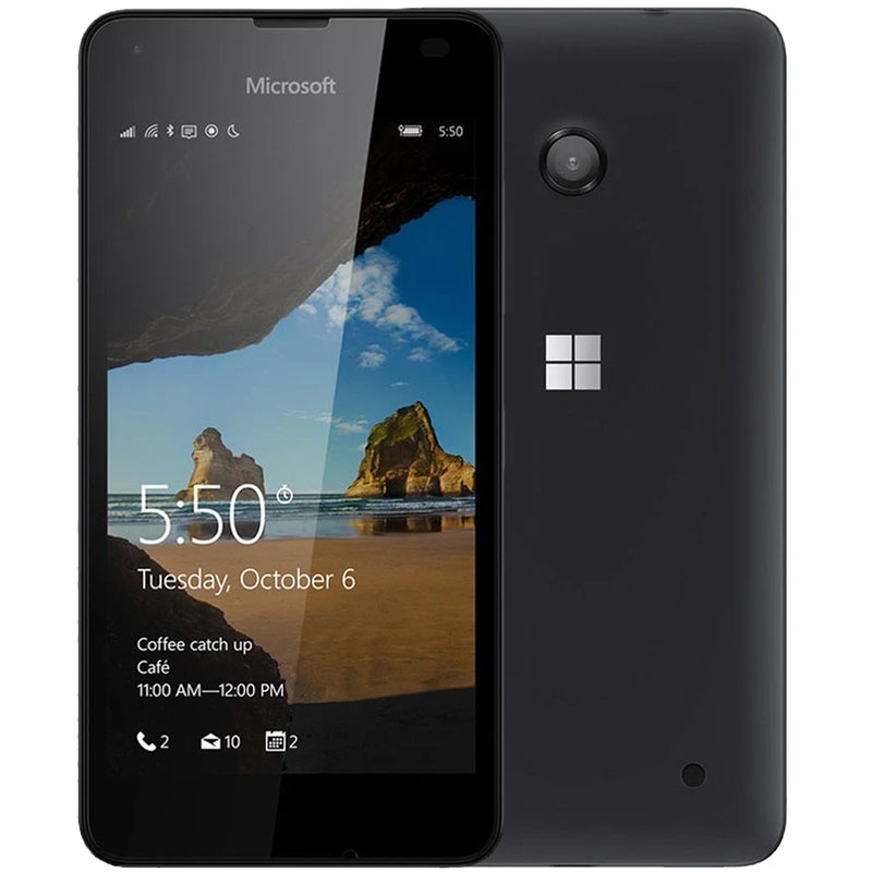 Microsoft Lumia 550 Refurbished Unlocked Smartphone Black