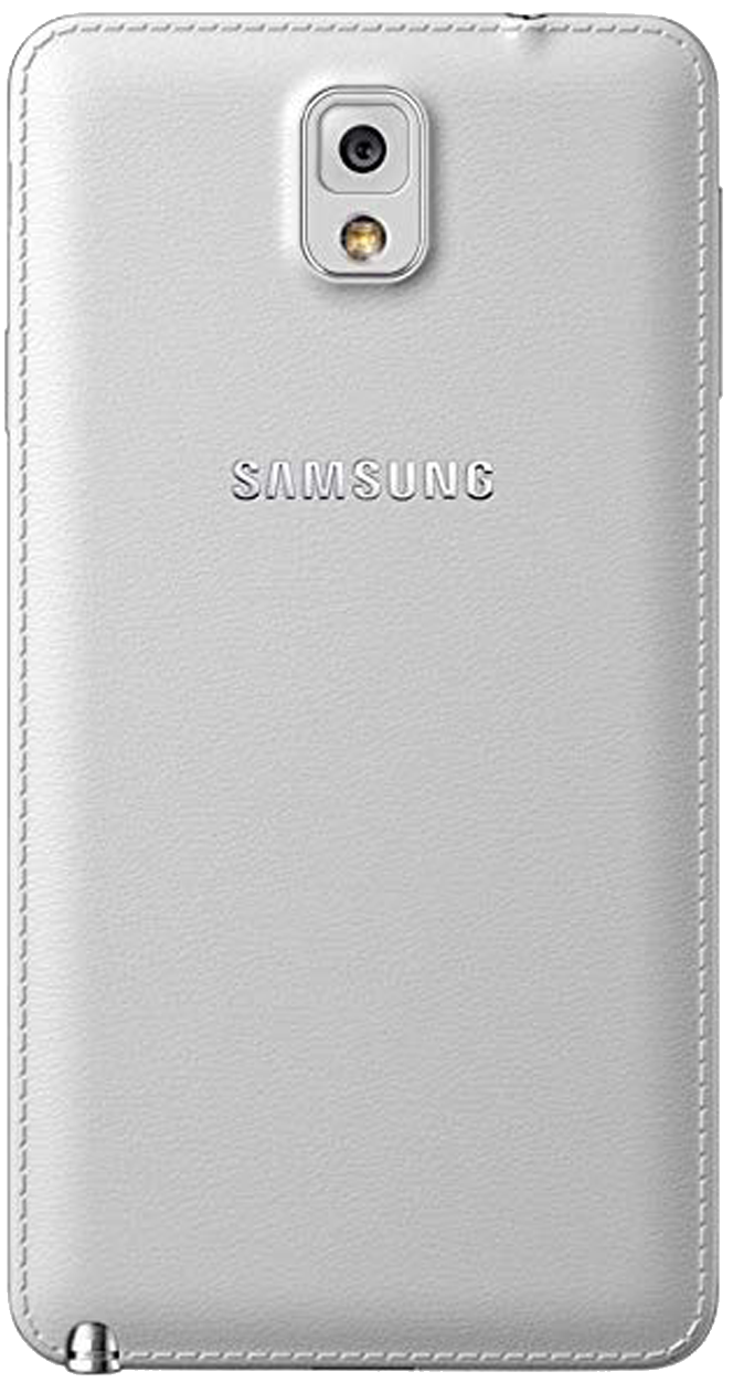 Samsung Galaxy Note 3 (SM-N9005) smartphone back in white