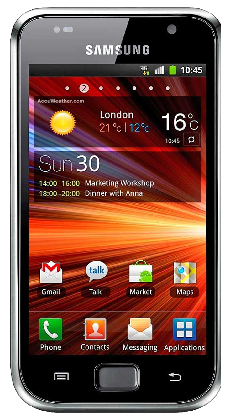 Samsung Galaxy S Plus (GT-I9001) smartphone front screen