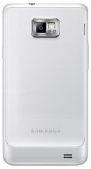 Samsung Galaxy S2 (GT-I9100) smartphone back in white