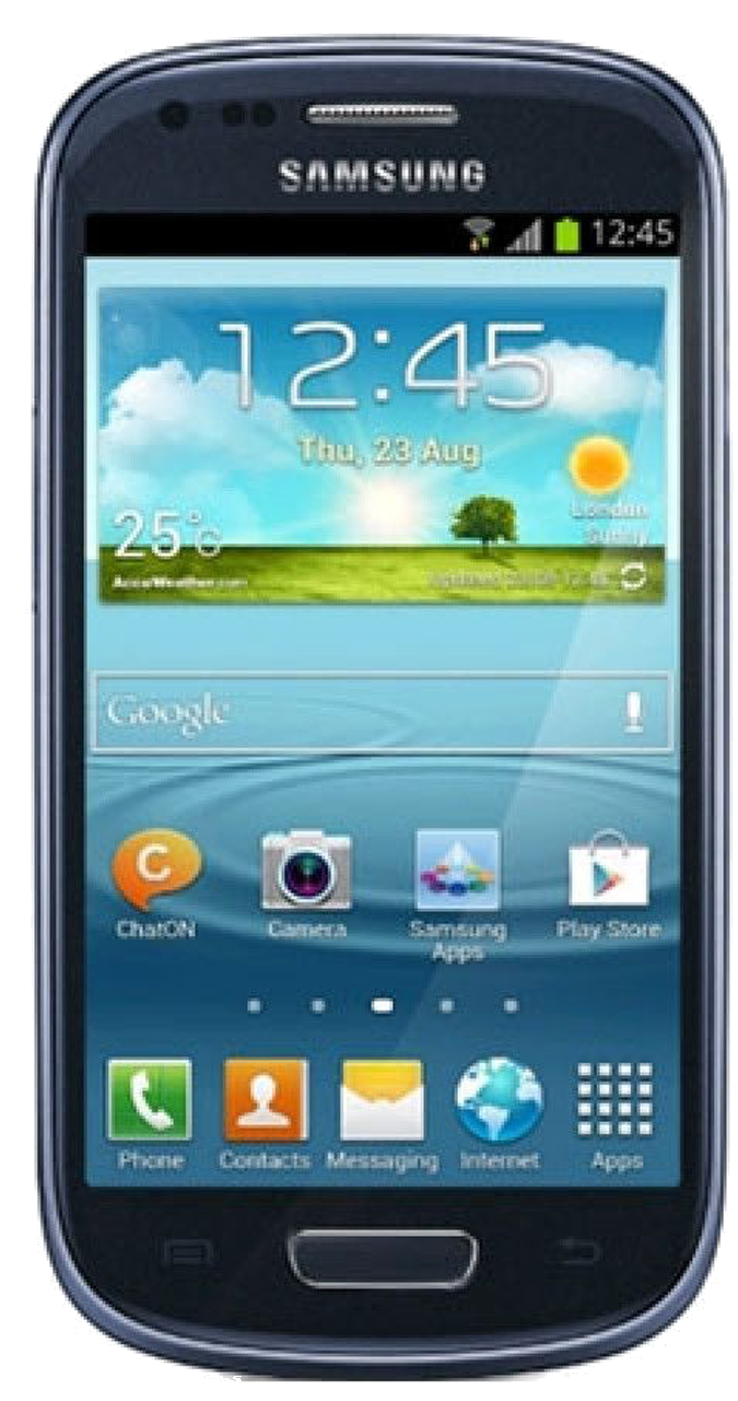 Samsung Galaxy S3 Mini (GT-I8190N) smartphone front screen