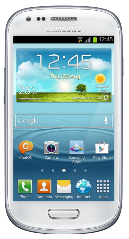 Samsung Galaxy S3 Mini (GT-I8190N) smartphone front screen surround white