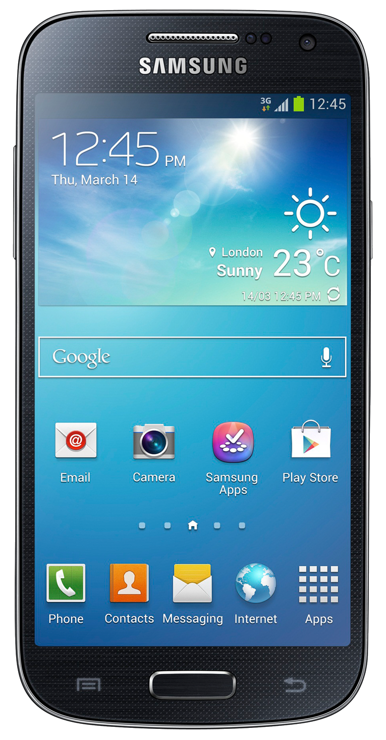 Samsung Galaxy S4 Mini (GT-I9195) smartphone front screen