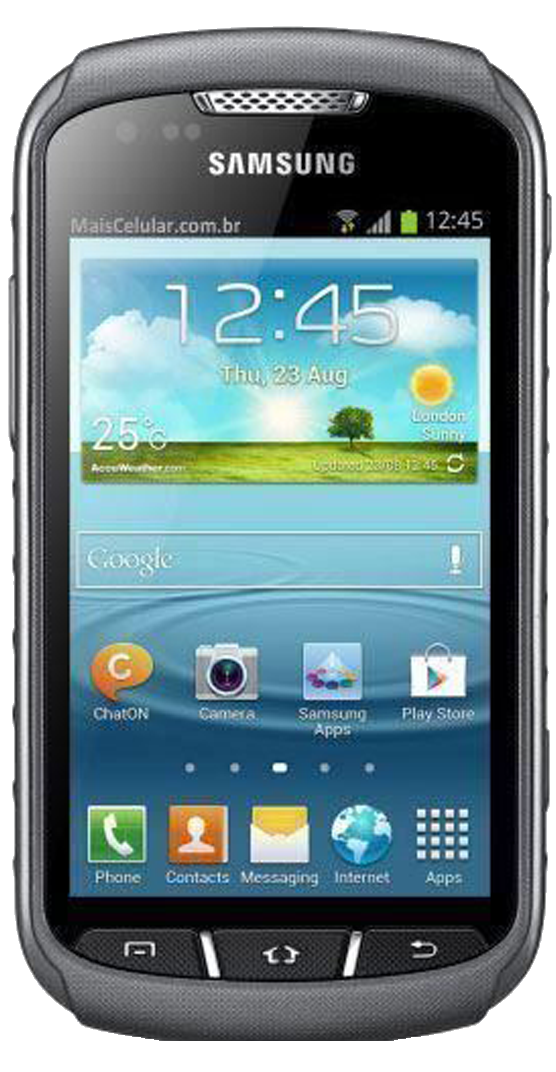 Samsung Galaxy Xcover 2 (GT-S7710) smartphone front screen
