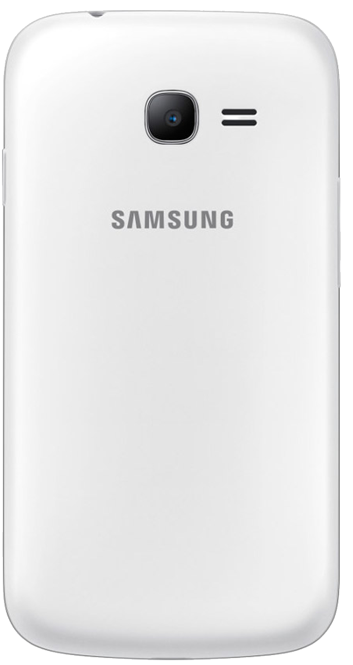 Samsung Galaxy Young 2 (SM-G130HN) smartphone back in white with silver surround