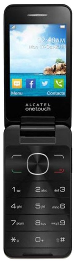 Alcatel 2012G (OT-2012G) flip-open mobile phone with alpha numeric operating buttons